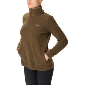 Columbia Canyon Point Sherpa Pullover Mujer, olive green